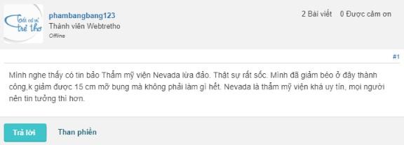 Thẩm mỹ viện Nevada có lừa đảo không